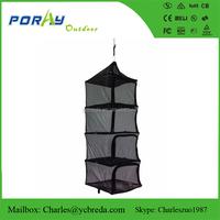 4 layers coarse mesh portable hanging dry rack dry net
