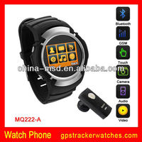 "2013 best price 1.5""TFT /OLED touch screen1.3M Cam,Bluetooth,GSM 850/900/1800/1900Mhz with CE ROSH, FCC watch mobile phone MQ222"
