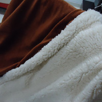 100% polyester faux fur with light color blanket