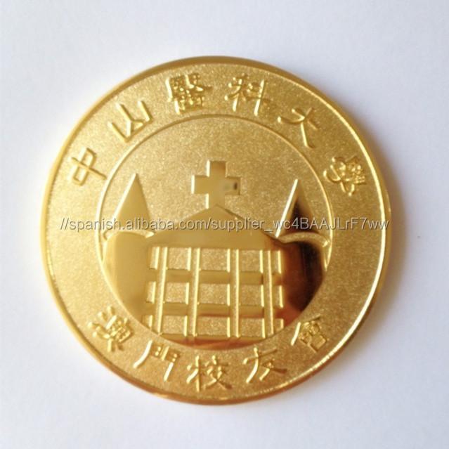 Monedas de oro réplica con el logo grabado para la colección