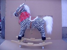 High quality popular design horse style Baby best gift plush rocking horse