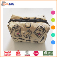 portable durable contents cosmetic bag