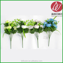 Top quality OEM red peony bush artificial flower