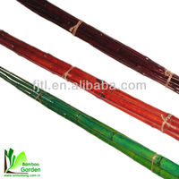 Factory directly sales painted decorative bamboo rods