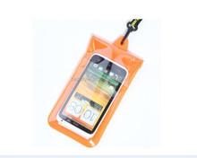 Black nylon drawstring water proof phone cover pvc bag