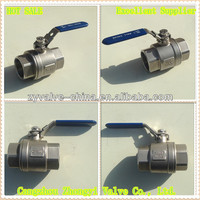 Two pieces 1000PSI stainless steel lpg gas ball valve