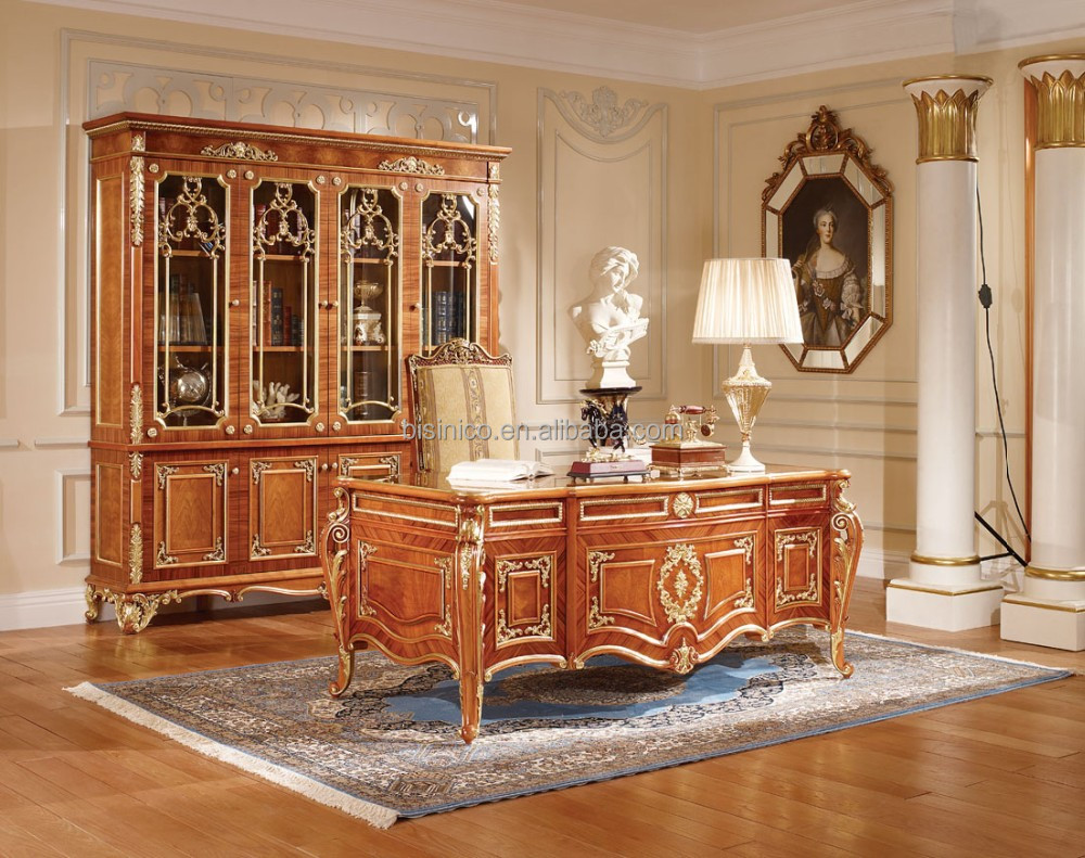 Luxury Executive Office Desk Noble Classic Wood Carving