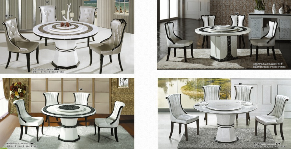 Round Rotating Dining Table. 1. 4
