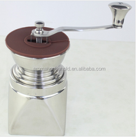 New design manual stainless steel coffee grinder, ceramic burr grinder for coffee