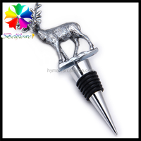 hot sale metal red wine stopper,shinning wine stopper, wine stopper with horse