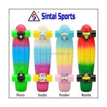 """ANODIZE GOLD / BLACK WHEELS"" - 22"" Penny Style Skateboard Mini Plastic Cruiser"