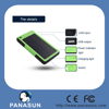 2015 New design solar mobile charger 8000mah power bank with waterproof