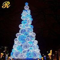 Iron frame solar powered christmas tree