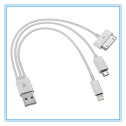 3 in 1 Universal Multi-function Extendable Noodle USB Data Cable Charger for Iphone Android Samung cell phones with Micro USB