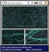 Polished big slab natural dark green marble