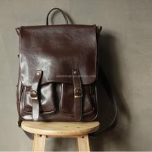 Vintage stylish leather satchel bag backpack