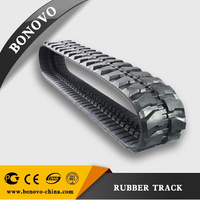 HTD ROBOT 1110 rubber track 450*86*52B made from natural rubber for sale for Excavator/Harvester