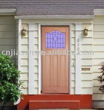 glass insert external door design