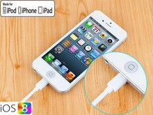Data and charging wholesale for iphone 8 pin flat usb cable