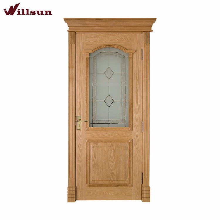 qualità in legno massello di rovere moderno porte anteriori vetri ... - Porta Dingresso In Legno Massello