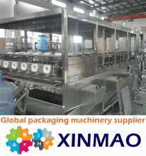 CE stacndard Barreled 3 or 5 gallons barreled water automatic filling production line bottling line manufacture
