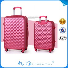 2015 Hot sale lightweight ABS/PC luggage print trolly travel bag 2015 new product
