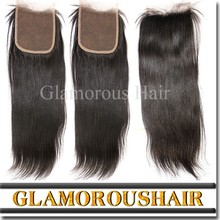 Factory stock top quality cheap virgin hair light brown lace closure