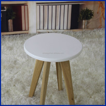 New design hot sale wooden leg MDF top round stool