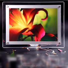 Custom led photo frame with hot open sexy girl sex picture, led backlit photo frame