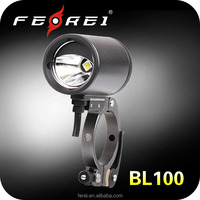 bicycle light cree xml2 u2 led 860 lumens, rechargeable, quick release mount, 35mm dia. mini XC bike light FEREI BL100