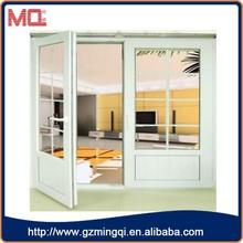 Australian standard office swing half doors/upvc double glass doors