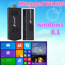 2015 latest MEEGOPAD T02 INTEL Z3735F Quad Core Windows8 win8ANDROID DUAL BOOT MINI PC DONGLE TV STICK COMPUTE STICK
