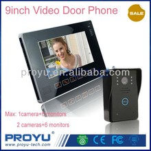 9 inch color touch screen video door phone system intercom waterproof outdoor camera + indoor monitor