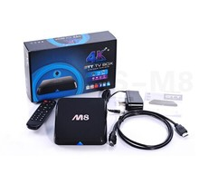 Hot Amlogic S802 Quad core android 4.4 tv box M8 support bluetooth 4.4, 4K*2K, XBMC, 2G+8G smart android 4.4 M8 payment accept