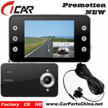 Very Popular!!2.7''LCD IR Night Vision FULL HD 1080P dual view car camera Bulk Price best Car Dvr Camcorder