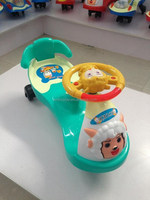 New children twist car with music mute wheel slide swing Yo baby car