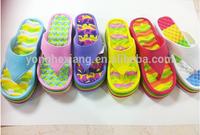 Hot selling Women EVA slippers flat loafers nude beach flip flop