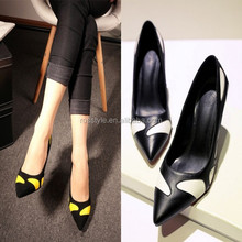 2014 sell well elegant mature real leather ladies fancy low heel shoes comfort shoes office ladies shoes sexy women high heel