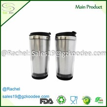 Redurable Stainless Steel Thermos Interior plastic outer travel mug car mug coffe mug for traveling