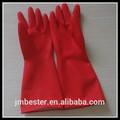 80g baratos de ácido- resisrant guantes de látex/de caucho natural de mantener el calor de limpieza guantes de color rojo