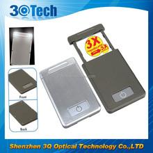 DH-84002 optical instrument plastic fresnel lens pullout magnifier