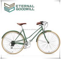 7 speeds retro bicycle fashion antique bikes vintage bike aluminum women road bike/city bicycle/the bikes GB3061