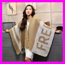 Most popular fashion nice design girls winter wear wool shawl HD4938