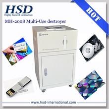 MH-2008 data destroyer degauss hard drive & shred CD/DVD/U flash/PCB/SSD
