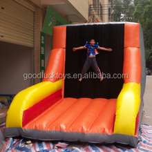 2016 new design basketball inflatable interactives games,Big inflatable sticky wall for people