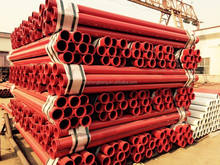 High pressure ST52 straight steel delivery pipe DN125 3M concrete pump pipe