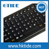 2.4G Portable Slim Flashlight RF Wireless Keyboard With Touchpad For Smart TV