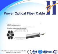 Outdoor power optical fiber cable OPGW 12F,, 24F, and 48F G.652D and G655 fiber optical cable
