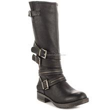 jusity 2015 yüksek kaliteli siyah deri yeni tasarım İtalyan kışlık botlar kadın satılık