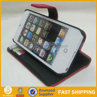 Credit Card Leather case for iphone5 Iphone 5 5th with wallet
